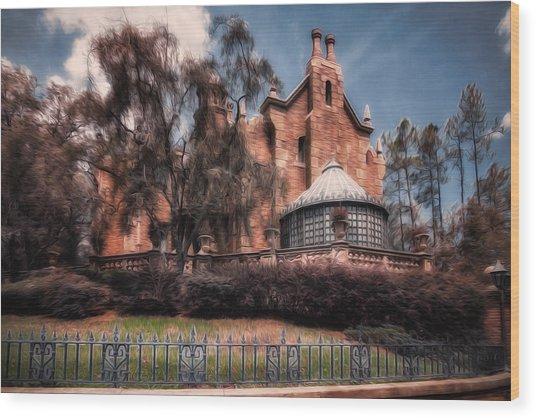 A Haunting House Wood Print