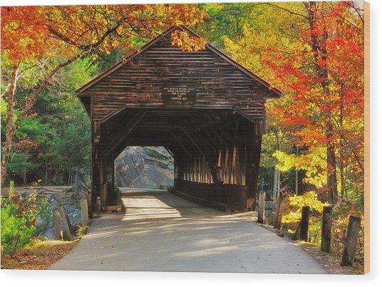 A Kancamagus Gem - Albany Covered Bridge Nh Wood Print