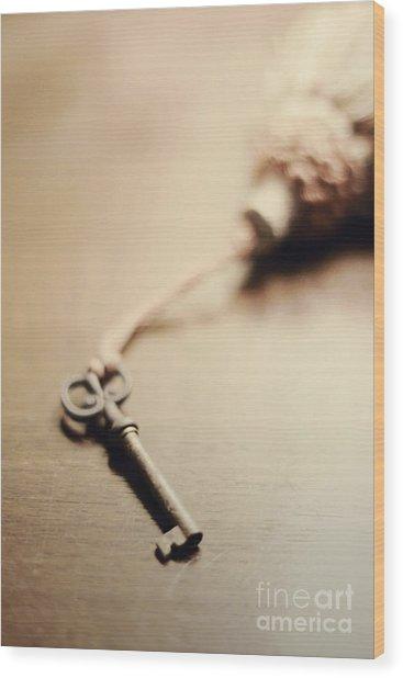 A Key... Wood Print