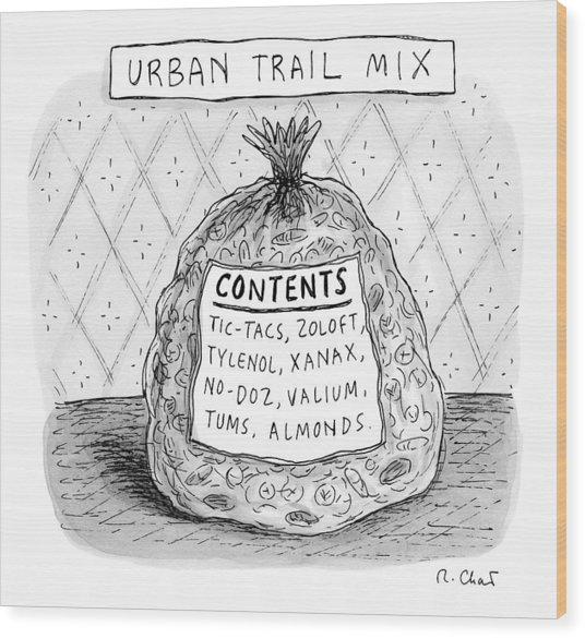 Urban Trail Mix Wood Print