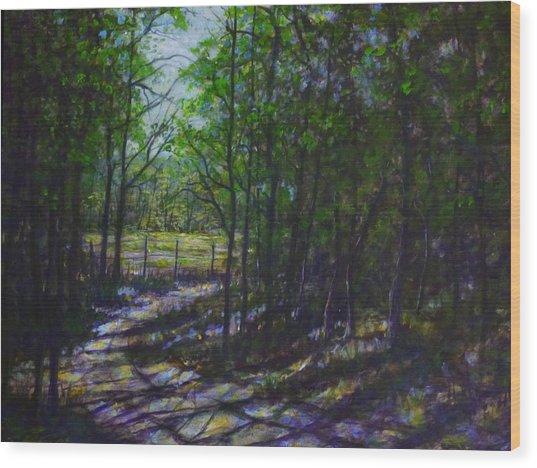 A Lazy Walk Wood Print by Larry Palmer