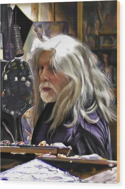 A Life Of Colour - Robert Lenkiewicz -1941 - 2002 Wood Print