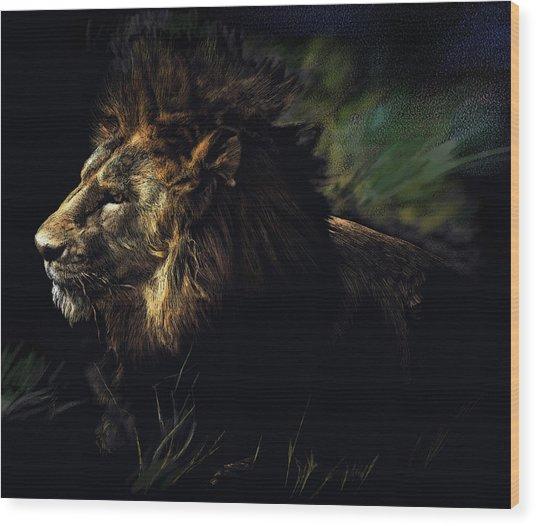 A Lion #1 Wood Print