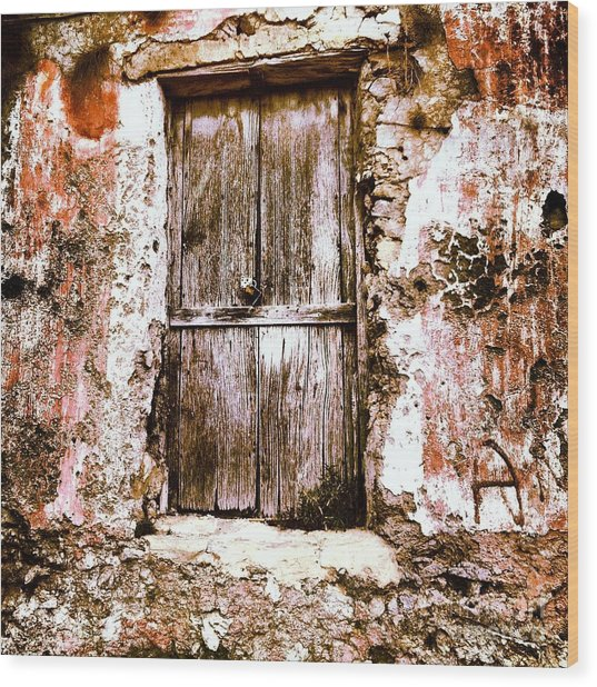 A Locked Door Wood Print by H Hoffman