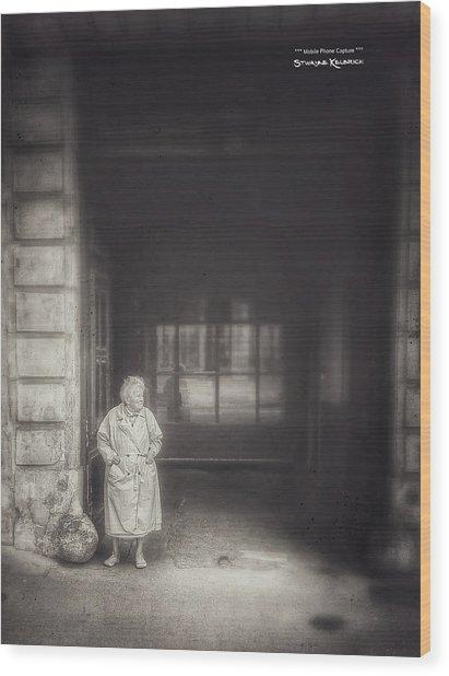 Wood Print featuring the photograph A Long Boring Wait... by Stwayne Keubrick