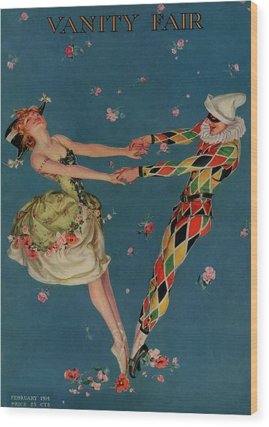 A Magazine Cover For Vanity Fair Of A Ballet Wood Print