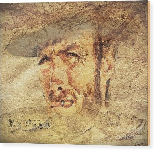 A Man With No Name Wood Print