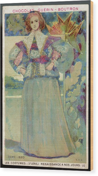 A Middle-class Lady In  Lacy Collar Wood Print by Mary Evans Picture Library