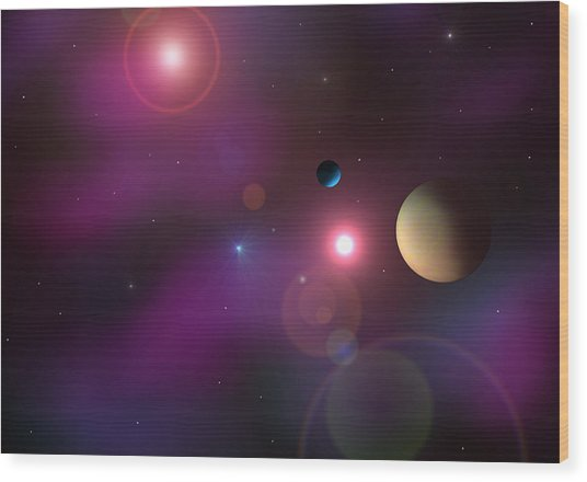 A Million Light Years Wood Print by Ricky Haug