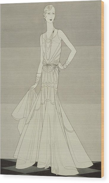 A Model Wearing Chanel Wood Print by Douglas Pollard