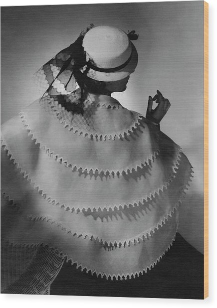 A Model Wearing Lanvin Wood Print by Horst P. Horst