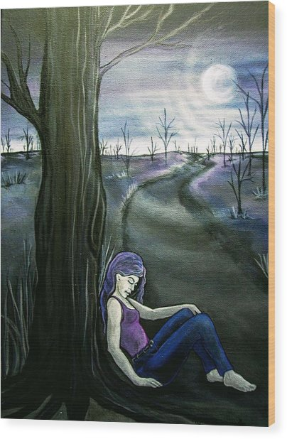 A Moment To Rest Wood Print by Jan Wendt