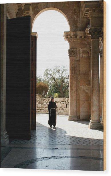 A Monk In Israel Wood Print