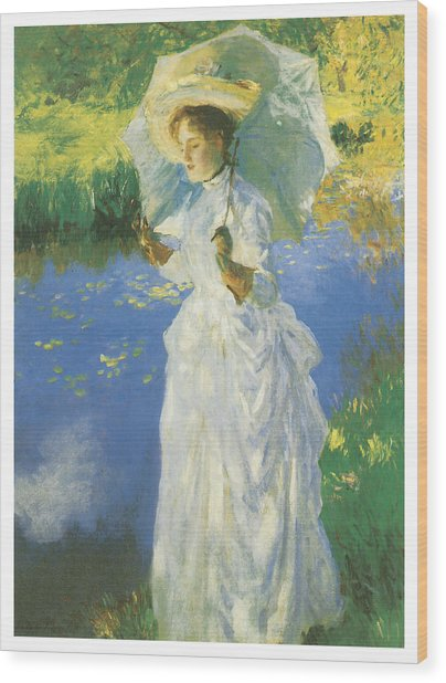 A Morning Walk Wood Print by John Singer Sargent