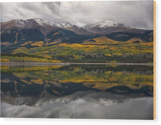 A Mt. Elbert Fall Wood Print