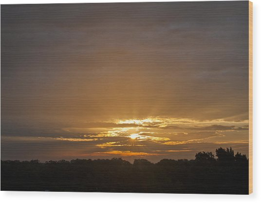 A New Day - Sunrise In Texas Wood Print