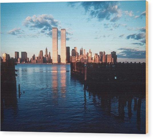 New York Sunset 1978 Wood Print