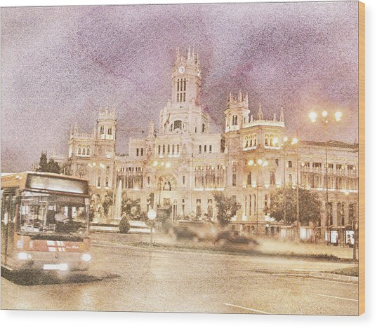 A Night In Madrid  Wood Print
