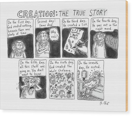 A Panel Called Creation: The True Story Which Wood Print