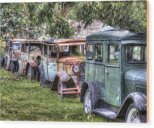 A Parade From The Past Wood Print by Danny Pickens