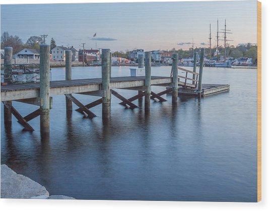 A Peaceful Dock -  Mystic Ct Wood Print