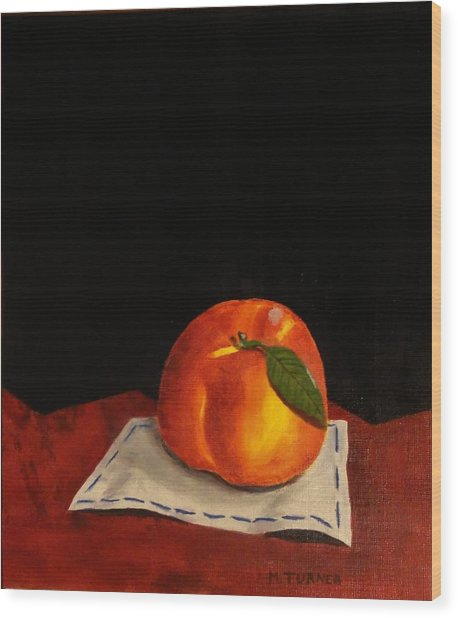 A Peach Wood Print by Melvin Turner