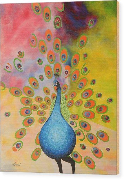 A Peculiar Peacock Wood Print