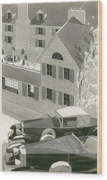 A Pierce Arrow Coupe And A Duesenberg Sports Wood Print