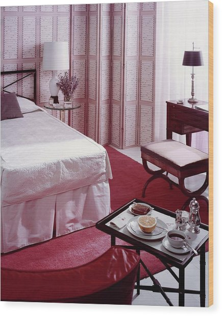 A Pink Bedroom Wood Print