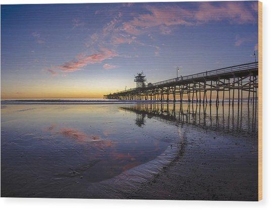 A Pink Low Tide Wood Print