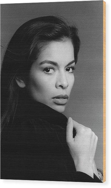 A Portrait Of Bianca Jagger Wood Print