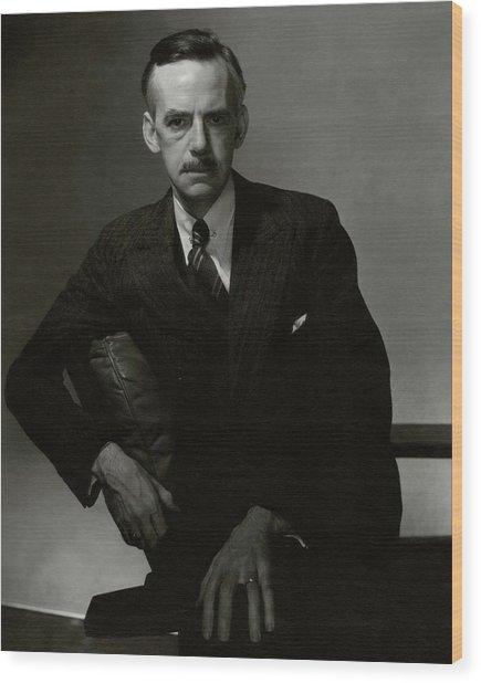 A Portrait Of Eugene O'neill Wood Print by Edward Steichen