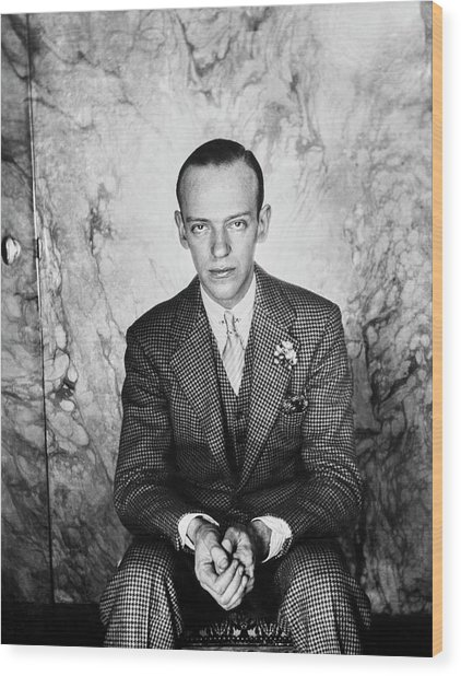 A Portrait Of Fred Astaire Sitting Wood Print by Cecil Beaton