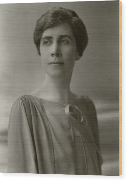A Portrait Of Grace Coolidge Wood Print by Nickolas Muray
