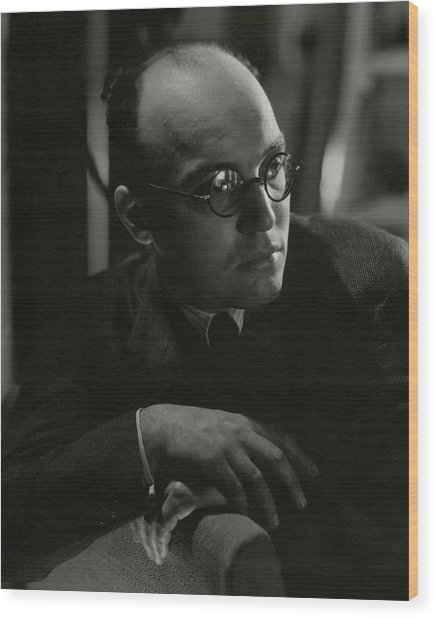 A Portrait Of Kurt Weill Wood Print