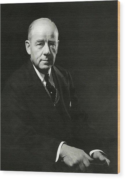 A Portrait Of Thomas W. Lamont Wood Print by Edward Steichen