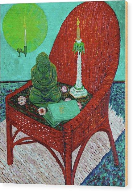 A Prayer For Vincent Wood Print by Linda J Bean