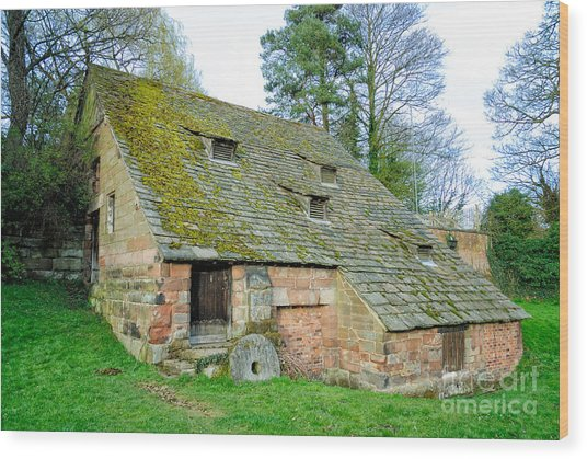 A Preserved Corn Mill From Medieval England - Nether Alderley Mill - Cheshire Wood Print