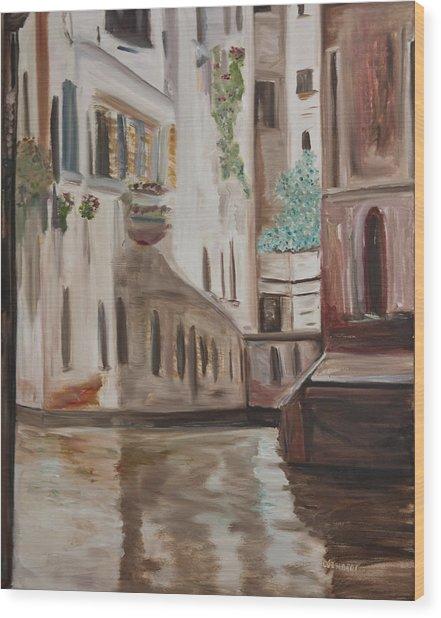 A Quiet Venice Canal Wood Print