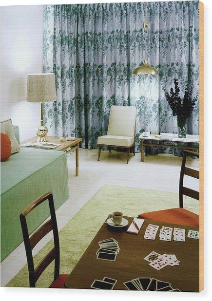 A Retro Bedroom Wood Print