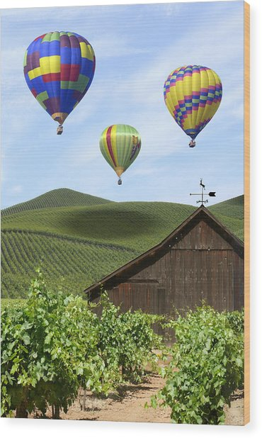 A Ride Through Napa Valley Wood Print