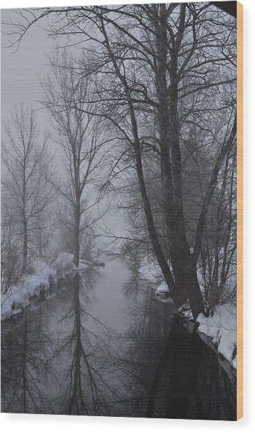 A River In March Wood Print by BandC  Photography