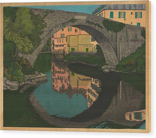 A River Wood Print