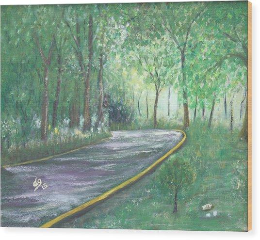 A Road Least Traveled Wood Print
