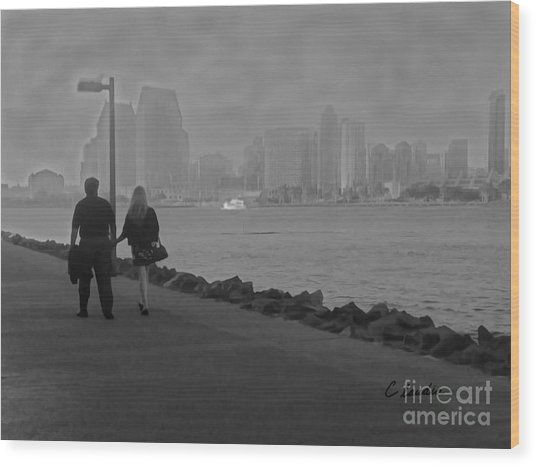 A Romantic Walk 2 Wood Print