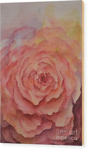 A Rose Beauty Wood Print