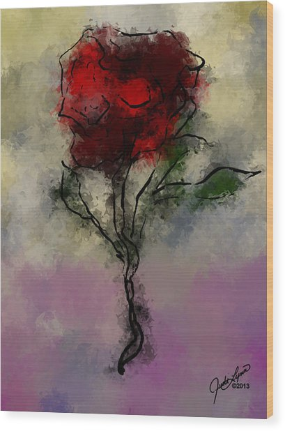 A Rose Is Wood Print