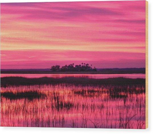 A Saint Helena Island Sunset Wood Print