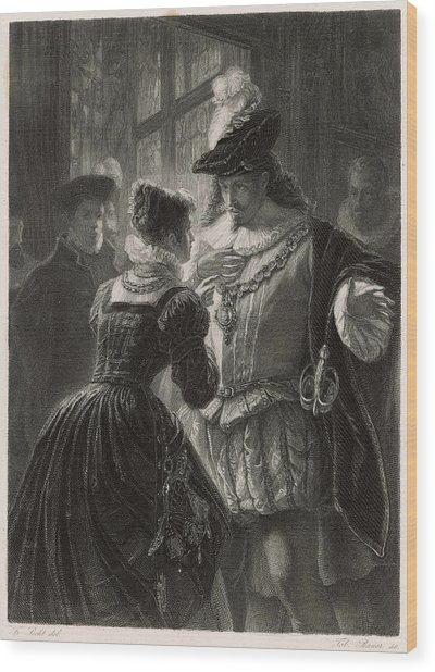 A Scene From Shakespeare's Comedy (or Wood Print by Mary Evans Picture Library