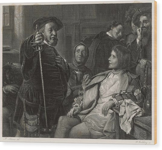 A Scene From Shakespeare's History Wood Print